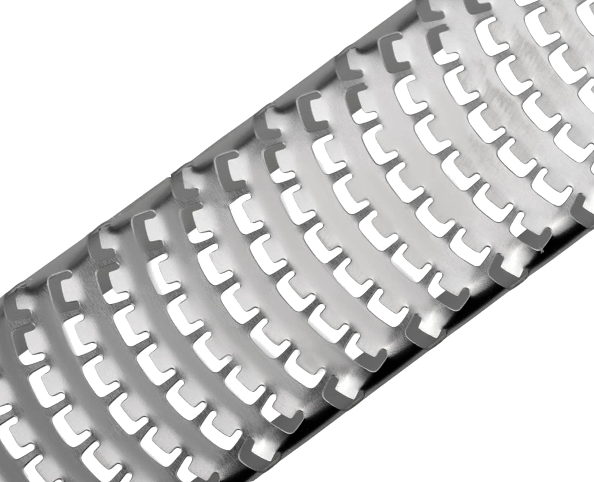 Isolated view 18/8 stainless steel razor blade of Benchusch Classic Red Cheese Grater