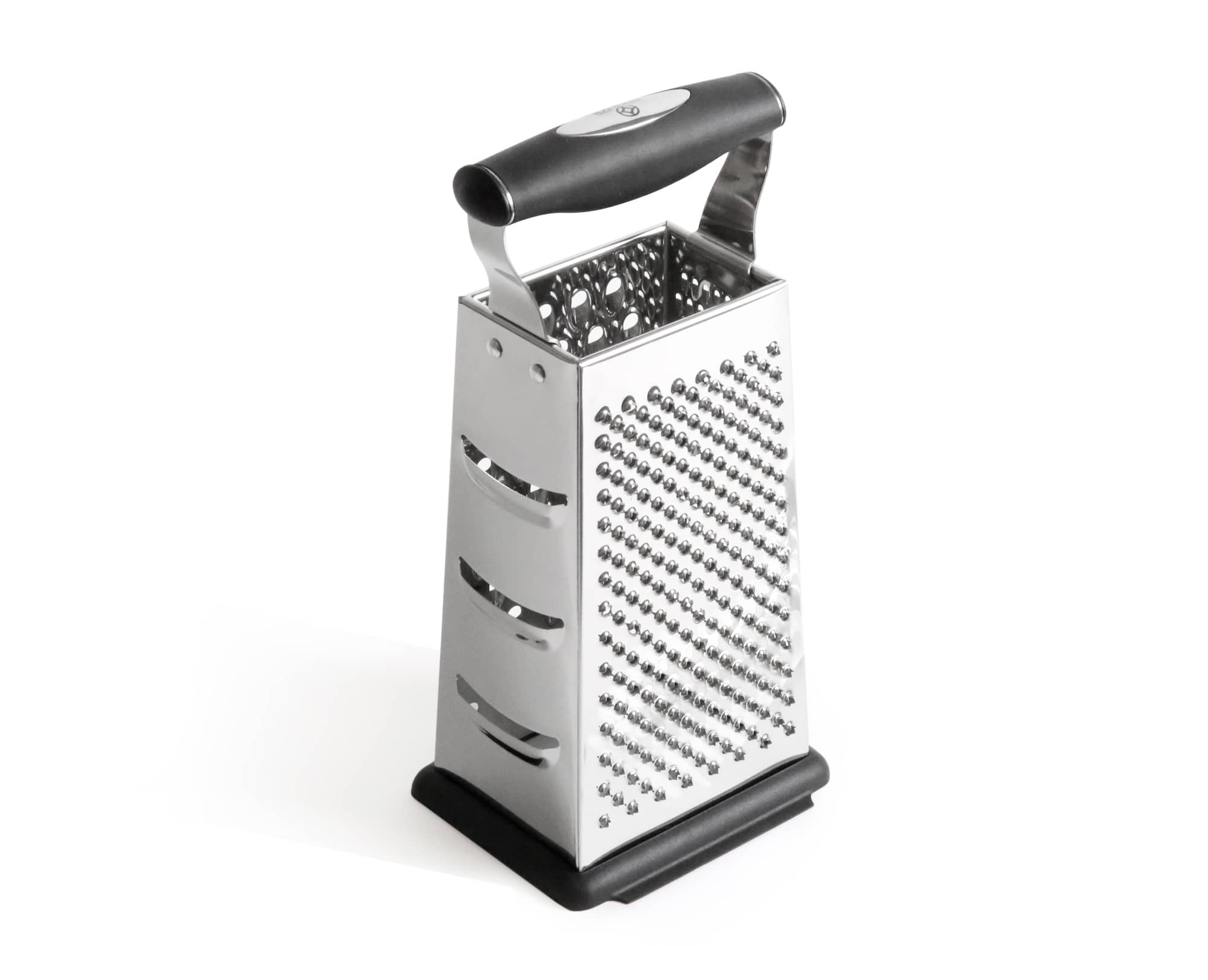 Benchusch 4 Sided Grater Box, black color with stainless steel blade, Non-Slip Base and Ergonomic Handle
